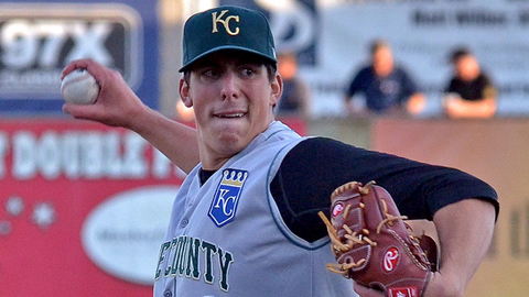 Kyle Zimmer has 23 strikeouts and a 4.32 ERA in four Kane County starts.
