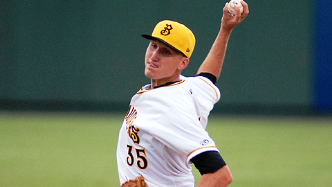 Kyle Kaminska threw 68 pitches in his debut in the Pirates organization.
